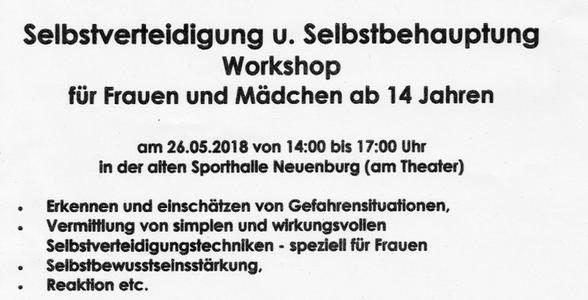 Selbstverteidigung und Selbstbehauptung Workshop